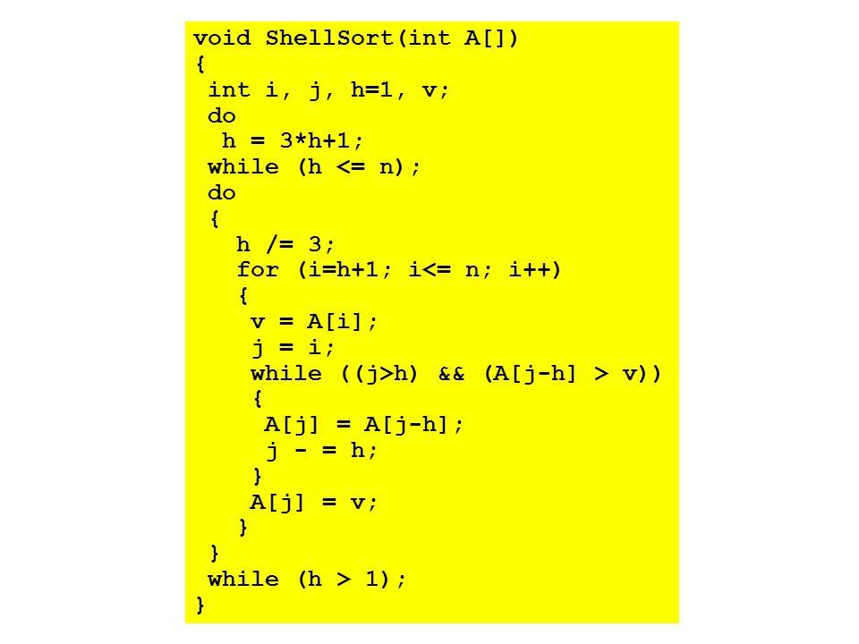 void ShellSort(int A[])